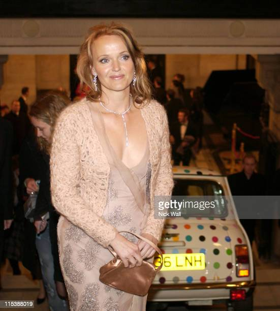 Miranda Richardson during The Times BFI London Film Festival 2003 'In The Cut' After Party at The Saatchi Gallery in London Great Britain