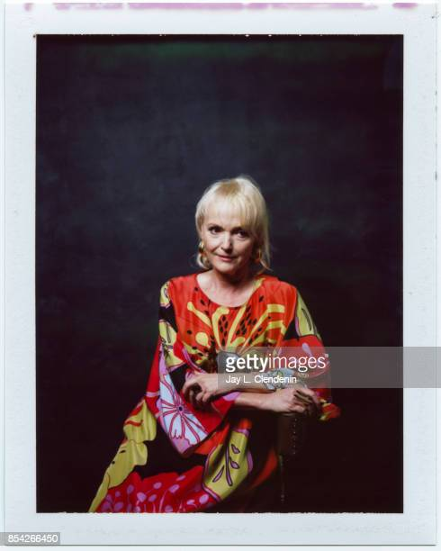 Miranda Richardson from the film 'Stronger' is photographed on polaroid film at the LA Times HQ at the 42nd Toronto International Film Festival in...