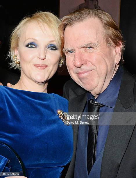 Miranda Richardson winner of the Dilys Powell Award for Excellence In Film and Timothy Spall winner of the British Actor of the Year award for 'Mr...