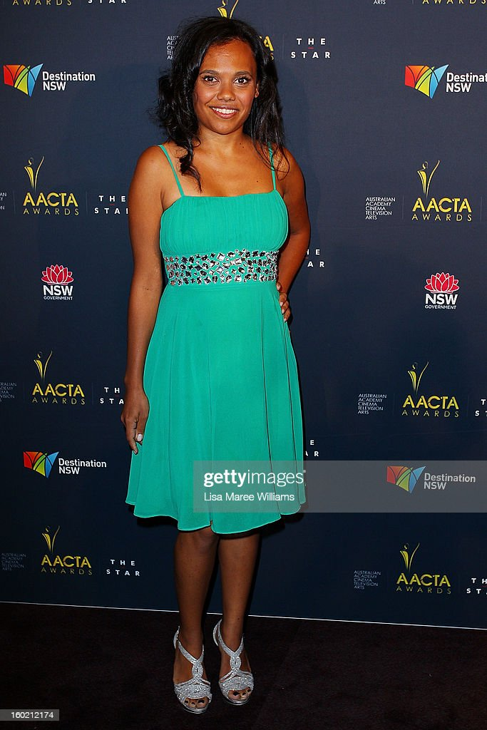 Miranda Tapsell attends the 2nd Annual AACTA Awards Luncheon at The Star on January 28, 2013 in Sydney, Australia.