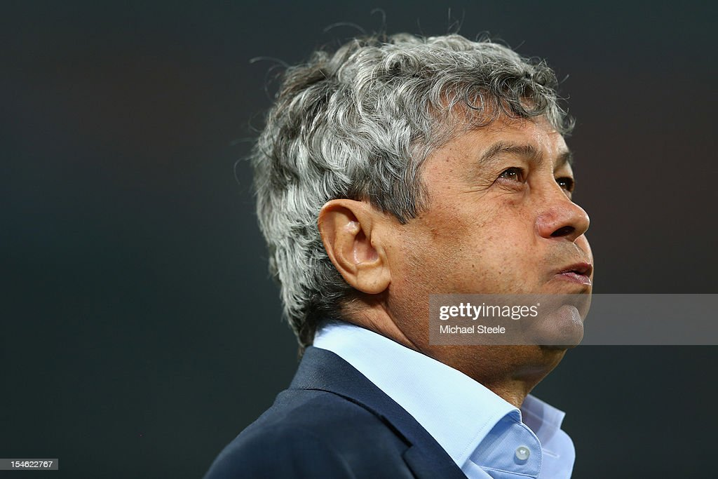 Mircea Lucescu coach of Shakhtar Donetsk during the UEFA Champions League Group E match between Shakhtar Donetsk and Chelsea at the Donbass Arena on October 23, 2012 in Donetsk, Ukraine.