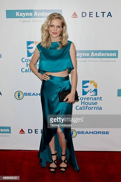 Mircea Monroe attends the Covenant House California's a magical night of hope at Skirball Cultural Center on May 8 2014 in Los Angeles California