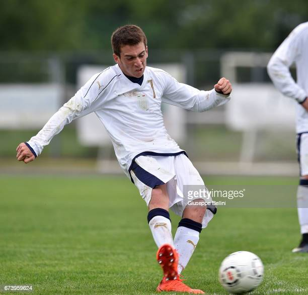 Mirco Lipari of Italy U15 in action during the Torneo delle Nazioni match between Italy U15 and UAE U15 on April 27 2017 in Gradisca d'Isonzo Italy