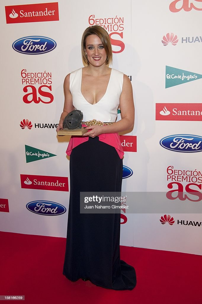Mireia Belmonte attends 'As del Deporte' awards 2012 at Palace Hotel on December 10, 2012 in Madrid, Spain.