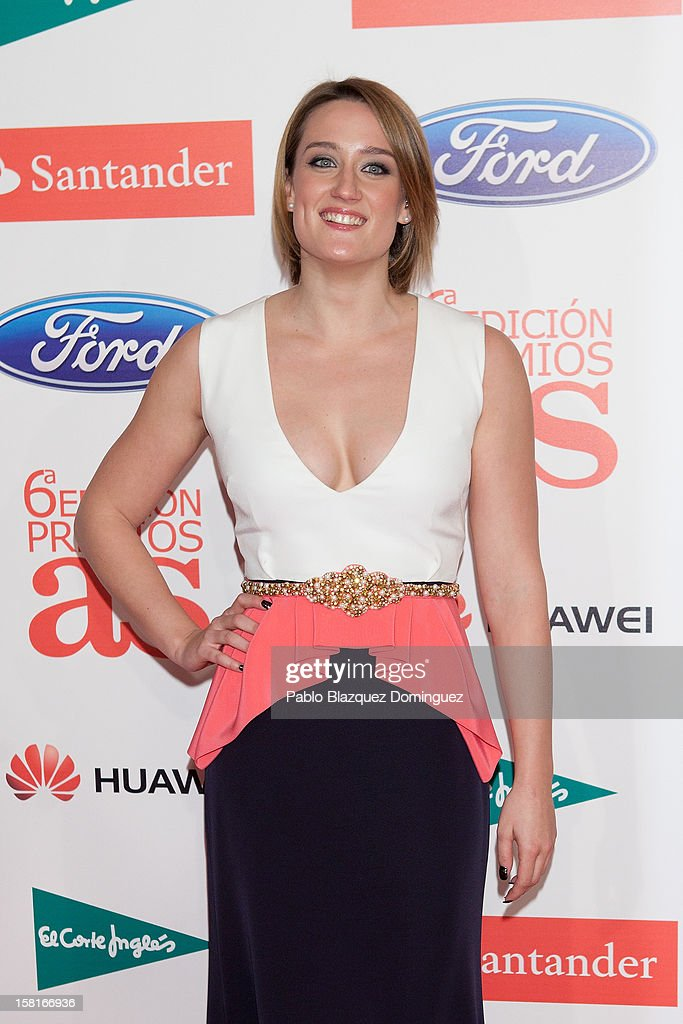 Mireia Belmonte attends 'As Del Deporte' Awards 2012 at The Westin Palace Hotel on December 10, 2012 in Madrid, Spain.