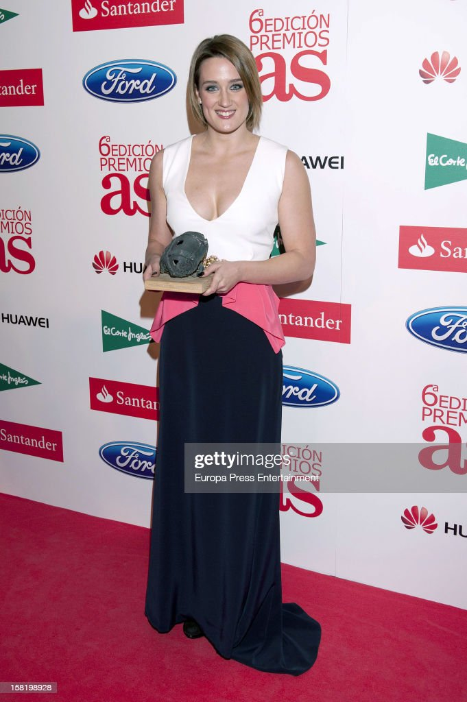 <a gi-track='captionPersonalityLinkClicked' href=/galleries/search?phrase=Mireia+Belmonte&family=editorial&specificpeople=5120453 ng-click='$event.stopPropagation()'>Mireia Belmonte</a> attends As Del Deporte' Awards 2012 on December 10, 2012 in Madrid, Spain.