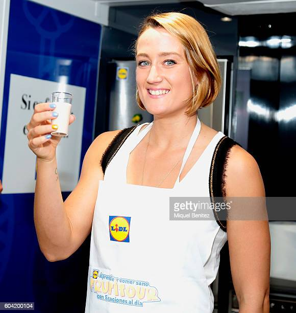 Mireia Belmonte attends the Lidl's 'Frutitour' Campaign which promotes eating 5 fresh fruits and vegetables 5 each day on September 13 2016 in...