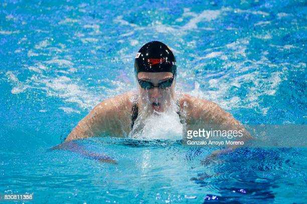 Mireia Belmonte competes during the Women's 400m Individual Medley Final of the FINA/airweave Swimming World Cup Eindhoven 2017 at Pieter van den...