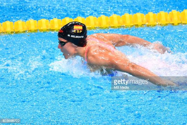 Mireia Belmonte during the Budapest 2017 FINA World Championships on July 26 2017 in Budapest Hungary