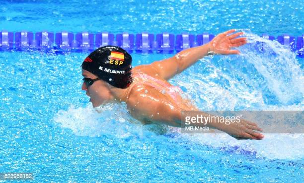 Mireia Belmonte during the Budapest 2017 FINA World Championships on July 27 2017 in Budapest Hungary