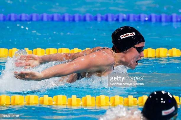 Mireia Belmonte from Spain competes during the Women's 200m Butterfly Final of the the FINA/airweave Swimming World Cup Eindhoven 2017 at Pieter van...