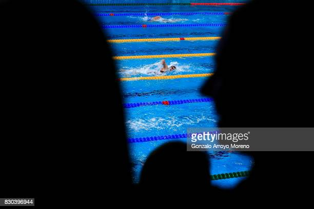 Mireia Belmonte from Spain competes during the Women's 800m Freestyle Final of the the FINA/airweave Swimming World Cup Eindhoven 2017 at Pieter van...