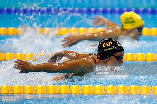 Mireia Belmonte Garcia of Spain competes in the Women's 200m Butterfly Final on Day 5 of the Rio 2016 Olympic Games at the Olympic Aquatics Stadium...