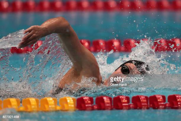 Mireia Belmonte of Spain compete in the Women's 400m freestyle final race during day two of the FINA Airweave Swimming World Cup Berlin 2017 at...