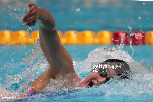 Mireia Belmonte of Spain compete in the Women's 400m freestyle race during day two of the FINA Airweave Swimming World Cup Berlin 2017 at Europa...