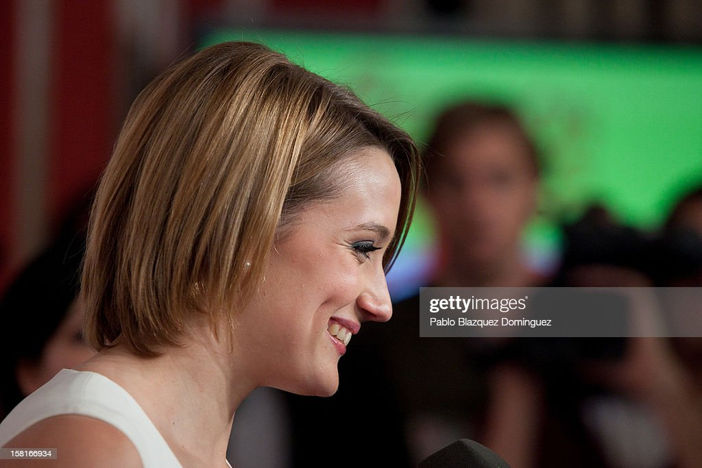 Mireia Belmonte speaks to press during 'As Del Deporte' Awards 2012 at The Westin Palace Hotel on December 10, 2012 in Madrid, Spain.