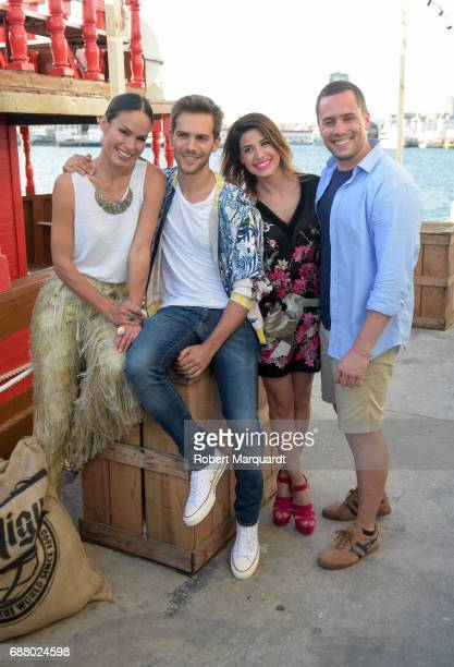 Mireia Canalda Marc Clotet Ares Teixidor and Roger Berruezo attend the 'San Miguel 60th Anniversary' party held at the Nautic Center on May 24 2017...