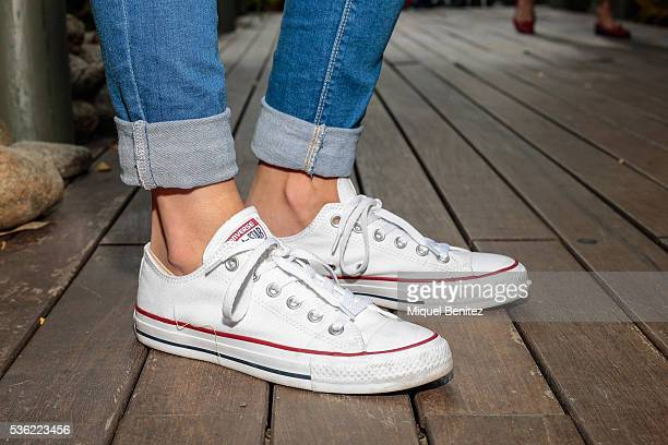 Mireia is wearing Zara jacket jeans and shirt Converse All Star white trainers Munich handbag Anna Complements Barcelona jewelry and a Casio watch at...