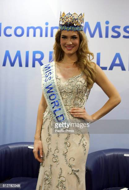 Mireia Lalaguna during press conference in Jakarta Lalaguna comes to Indonesia as special guest who will attend the summit of Miss Indonesia 2016...