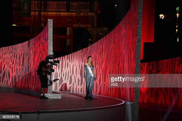 Mireia Lalaguna Royo of Spain wins the new title during the Miss World Grand Final on December 19 2015 in Sanya Hainan Province of China
