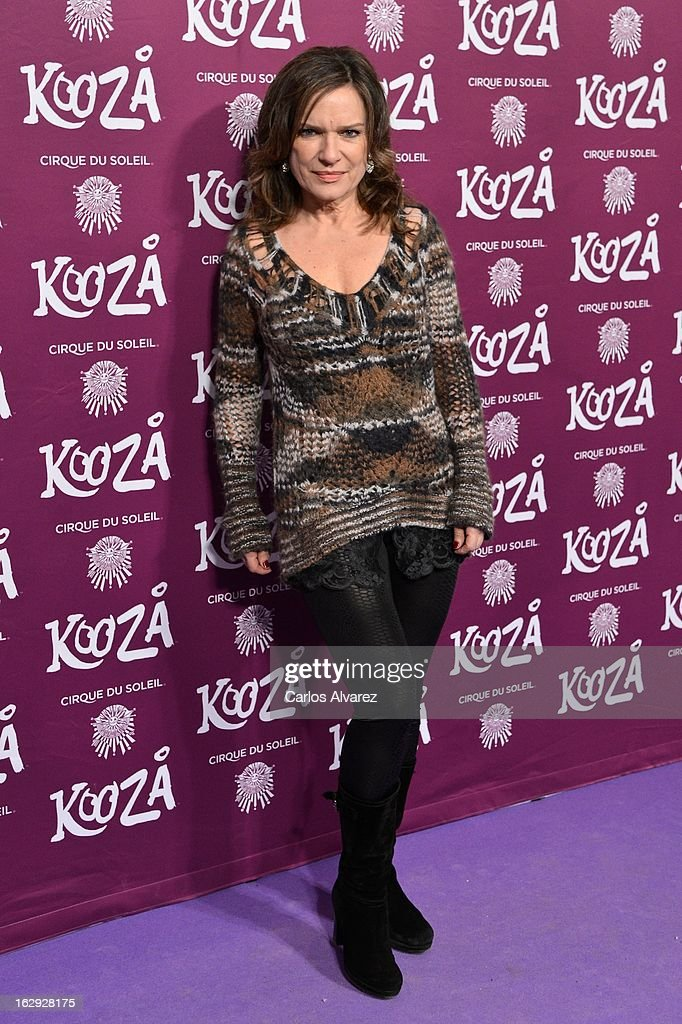 Mireia Ros attends 'Cirque Du Soleil' Kooza 2013 premiere on March 1, 2013 in Madrid, Spain.