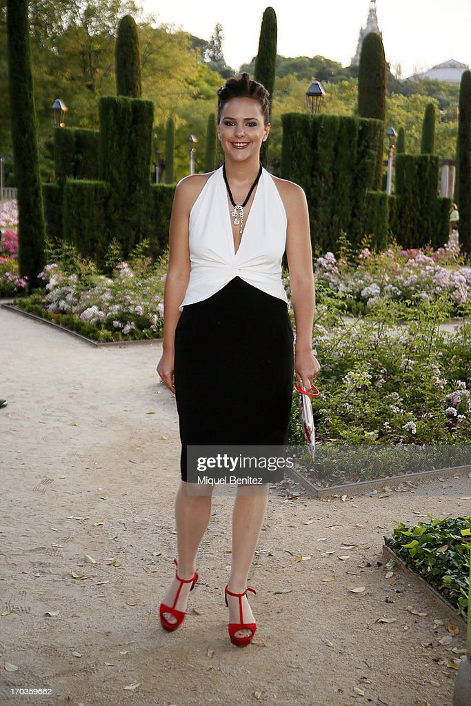 <a gi-track='captionPersonalityLinkClicked' href=/galleries/search?phrase=Mireia+Verdu&family=editorial&specificpeople=6057063 ng-click='$event.stopPropagation()'>Mireia Verdu</a> poses on the Teatre Grec's gardens during the New Generation by Francina on June 11, 2013 in Barcelona, Spain.