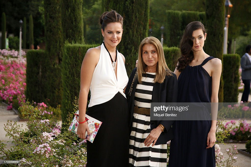 <a gi-track='captionPersonalityLinkClicked' href=/galleries/search?phrase=Mireia+Verdu&family=editorial&specificpeople=6057063 ng-click='$event.stopPropagation()'>Mireia Verdu</a>, Purificacion Gacia and Laura Sanchez pose on the Teatre Grec's gardens during the New Generation by Francina on June 11, 2013 in Barcelona, Spain.