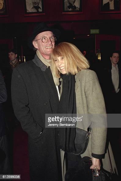Mireille Darc and her friend Pascal Desprez at the Eldorado Theater