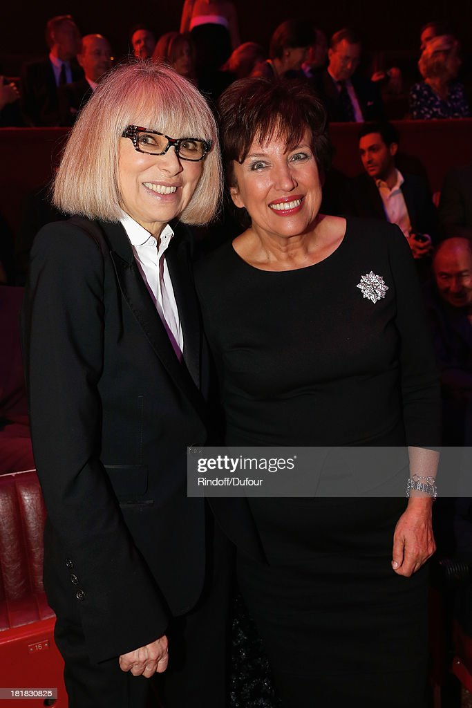 Mireille Darc and Roselyne Bachelot attend the 'IFRAD' Gala at Cirque D'Hiver In Paris on September 25 2013 in Paris France