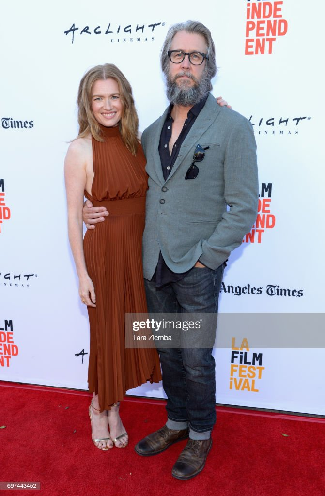 Mireille Enos (L) and Alan Ruck attend the premieres of 'Never Here' and 'Laps' during 2017 Los Angeles Film Festival at Arclight Cinemas Culver City on June 18, 2017 in Culver City, California.