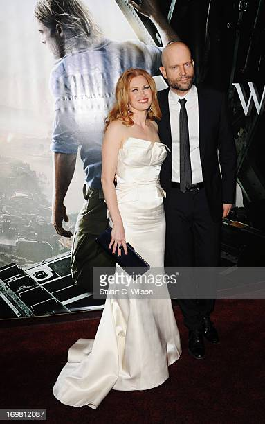 Mireille Enos and director Marc Forster attend the World Premiere of 'World War Z' at The Empire Cinema on June 2 2013 in London England