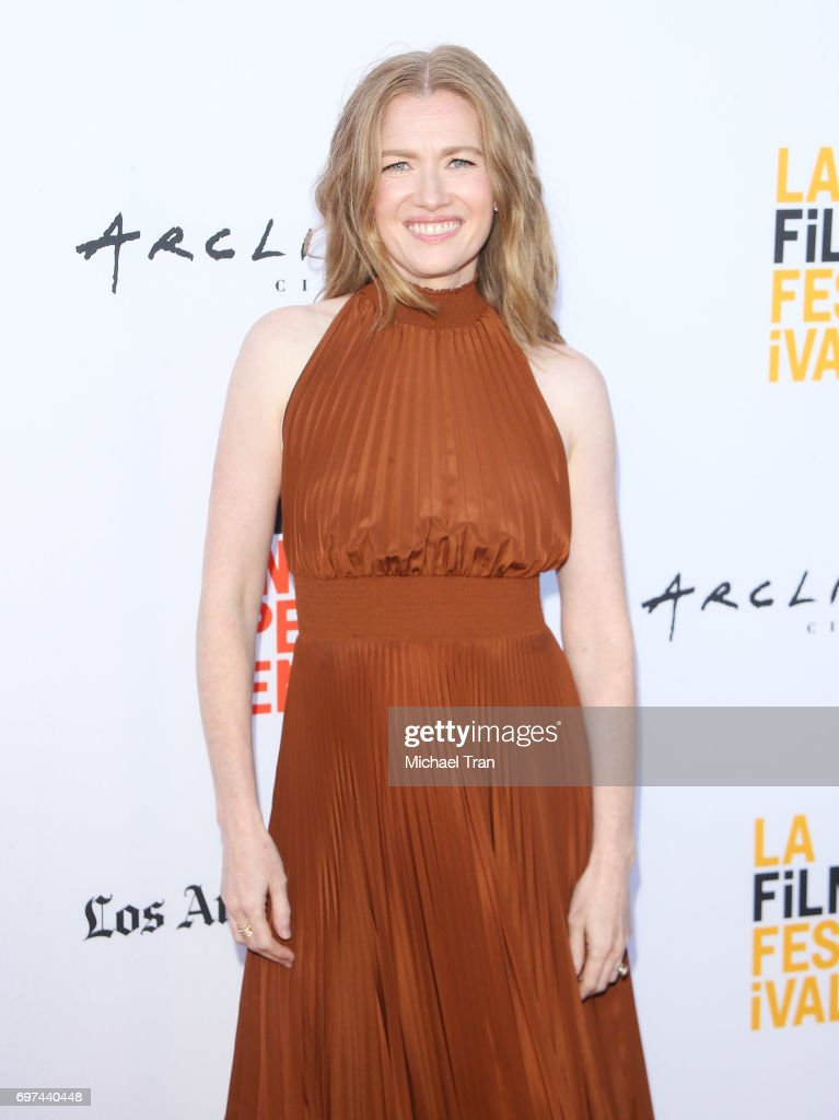 Mireille Enos attends the 2017 Los Angeles Film Festival - premiere of 'Never Here' held at Arclight Cinemas Culver City on June 18, 2017 in Culver City, California.
