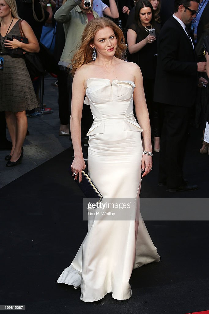 Mireille Enos attends the World Premiere of 'World War Z' at The Empire Cinema on June 2, 2013 in London, England.