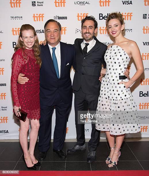 Mireille Enos Jim Belushi Wayne Roberts and Natasha Bassett attend the premiere of 'Katie Says Goodbye' during the 2016 Toronto International Film...