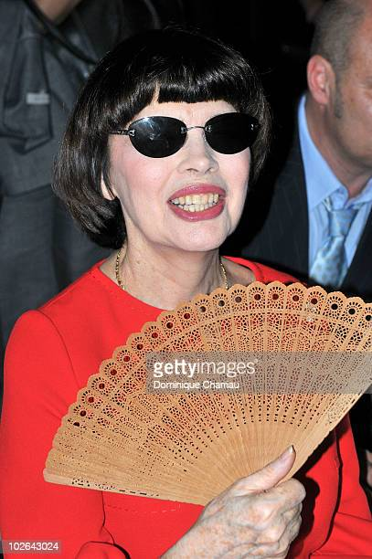 Mireille Mathieu attends the Stephane Rolland show as part of the Paris Haute Couture Fashion Week Fall/Winter 2011 at Palais de Chaillot on July 6...