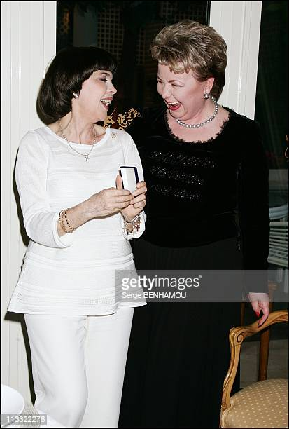 Mireille Mathieu Celebrates Her 61Th Birthday With Nadezda Kushenkova Her Family And Friends In Paris France On July 23 2007 Former Russian Culture...