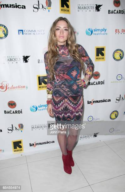 Mirella Cesa arrives at the International Rescue Committee Hosts 2017 Refugio Gala on March 16 2017 in Miami Florida
