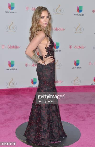 Mirella Cesa attends Univision's 29th Edition of Premio Lo Nuestro A La Musica Latina at the American Airlines Arena on February 23 2017 in Miami...