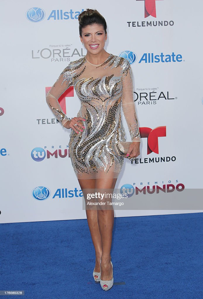 Mirella Grisales attends Telemundo's Premios Tu Mundo Awards at American Airlines Arena on August 15, 2013 in Miami, Florida.