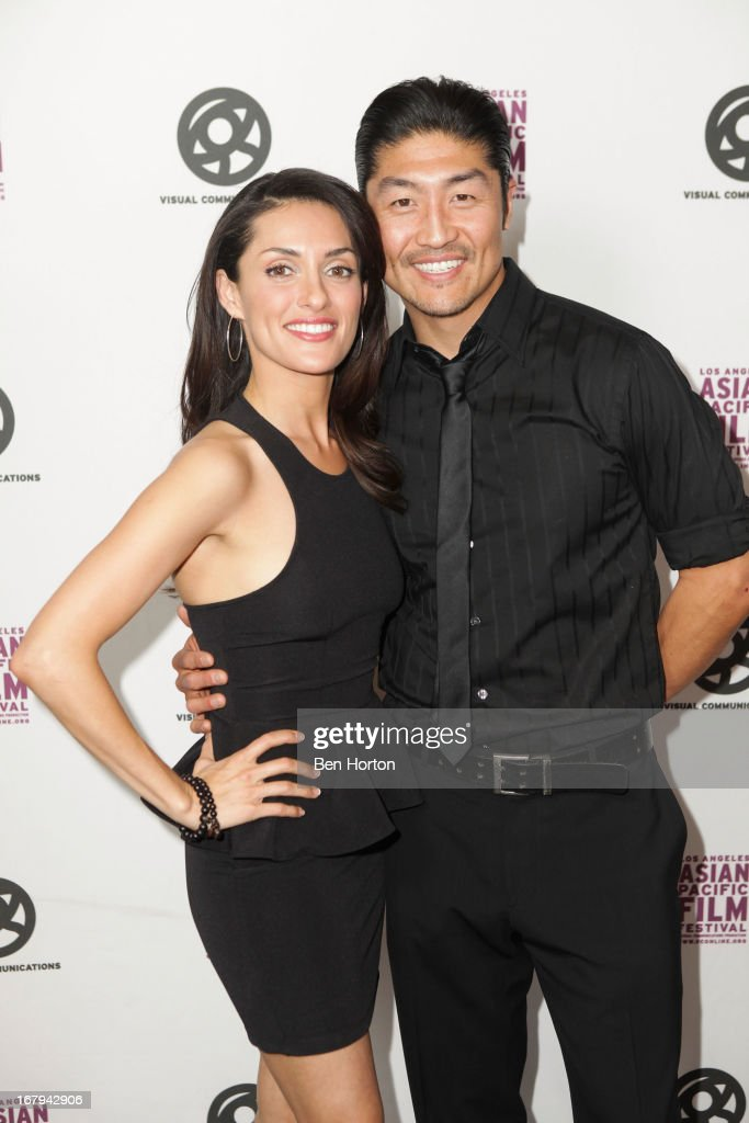 Mirelly Taylor and actor <a gi-track='captionPersonalityLinkClicked' href=/galleries/search?phrase=Brian+Tee&family=editorial&specificpeople=593958 ng-click='$event.stopPropagation()'>Brian Tee</a> attends the 2013 LA Asian Pacific Film Festival - opening night premiere of 'Linsanity' at the Directors Guild Of America on May 2, 2013 in Los Angeles, California.