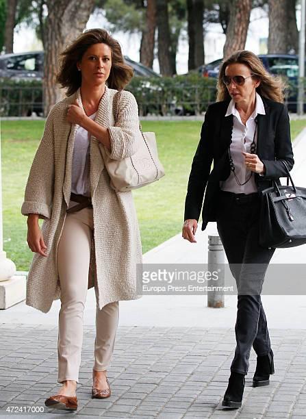 Miriam de Ungria an Elena Cue are seen on April 12 2015 in Madrid Spain