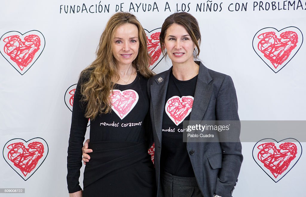 Miriam de Ungria and Ana Garcia Sineriz present the charity jewels collection 'Emociones' by Menudos Corazones foundation on February 8, 2016 in Madrid, Spain.