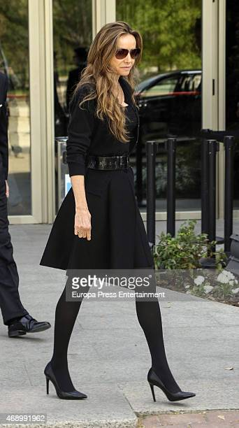 Miriam de Ungria attends the funeral chapel for Prince Kardam of Bulgaria on April 8 2015 in Madrid Spain