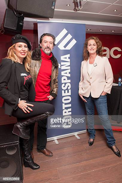 Miriam Diaz Aroca and Gines Garcia Millan attend the 'Cortoespana' Short Film Festival 2014 at Callao Fnac Forum on February 13 2014 in Madrid Spain
