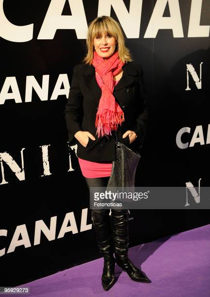 Miriam Diaz Aroca arrives to the premiere of ''Nine'' at the Capitol Cinema on January 21 2010 in Madrid Spain
