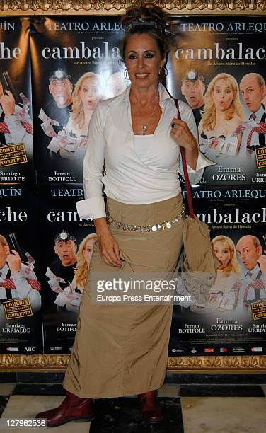 Miriam Diaz Aroca attends 'Cambalache' theatre play premiere on October 3 2011 in Madrid Spain