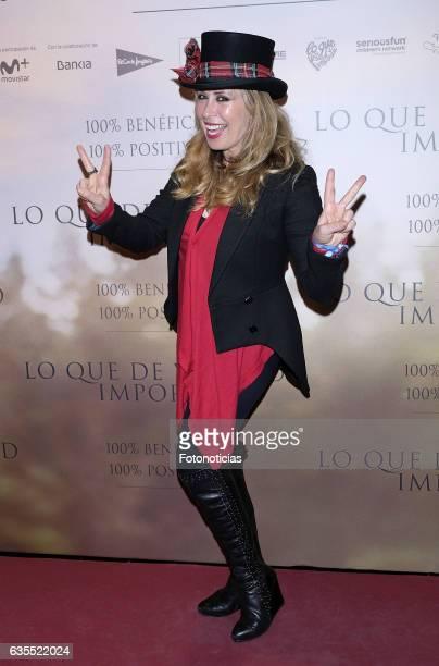 Miriam Diaz Aroca attends the 'Lo Que De Verdad Importa' premiere at the Hotel Vincci Capitol on February 15 2017 in Madrid Spain