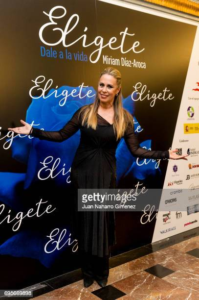 Miriam DiazAroca attends 'Eligete' photocall at Teatro Nuevo Apolo on June 13 2017 in Madrid Spain