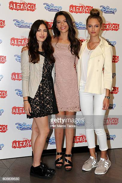 Miriam Dossena Eleonora Gaggero and Beatrice Vendramin attend a photocall for 'Alex Co' on September 15 2016 in Milan Italy