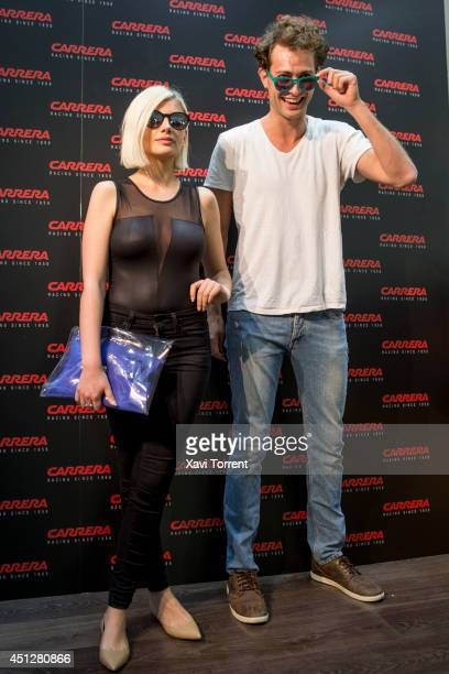 Miriam Giovanelli and Peter Vives attend the presentation of 'Carrera New Metal Icon Collection' on June 26 2014 in Barcelona Spain